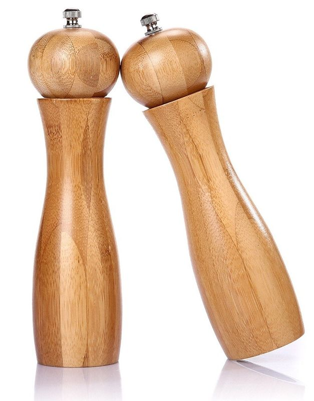 Multifunction Wooden Salt And Pepper Mills Easy To Clean For Home Kitchen Supplies