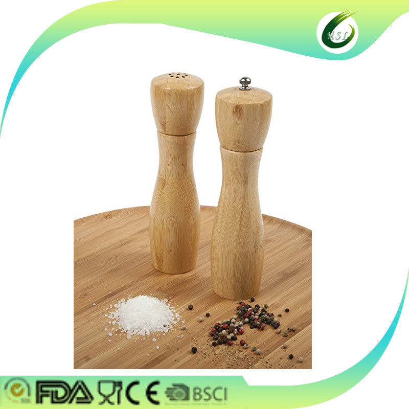 Multipurpose Bamboo Salt And Pepper Shakers Formaldehyde Free Easy Cleaning